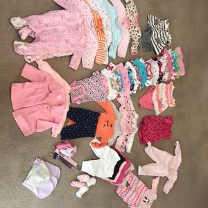Newborn Girls Clothing Lot